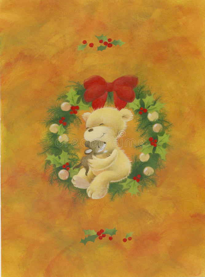 Download Christmas Teddy bear stock illustration. Image of best - 16278759