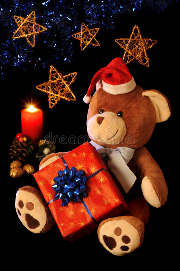 Free Christmas Teddy Bear Royalty Free Stock Photos - 16897348