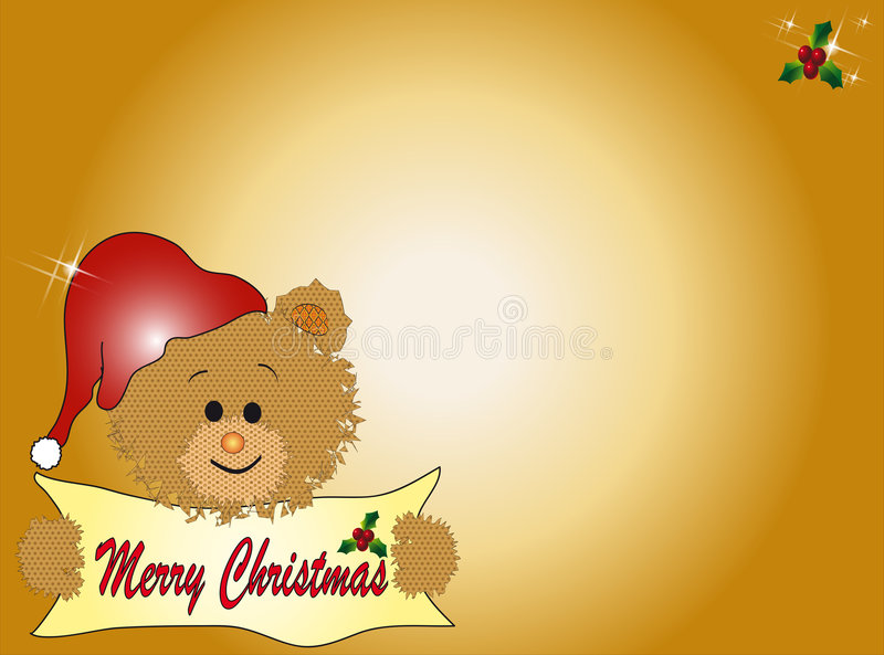 Christmas teddy bear stock illustration