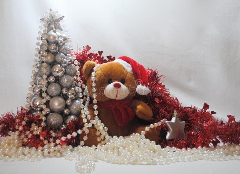 Christmas teddy 3 royalty free stock photography