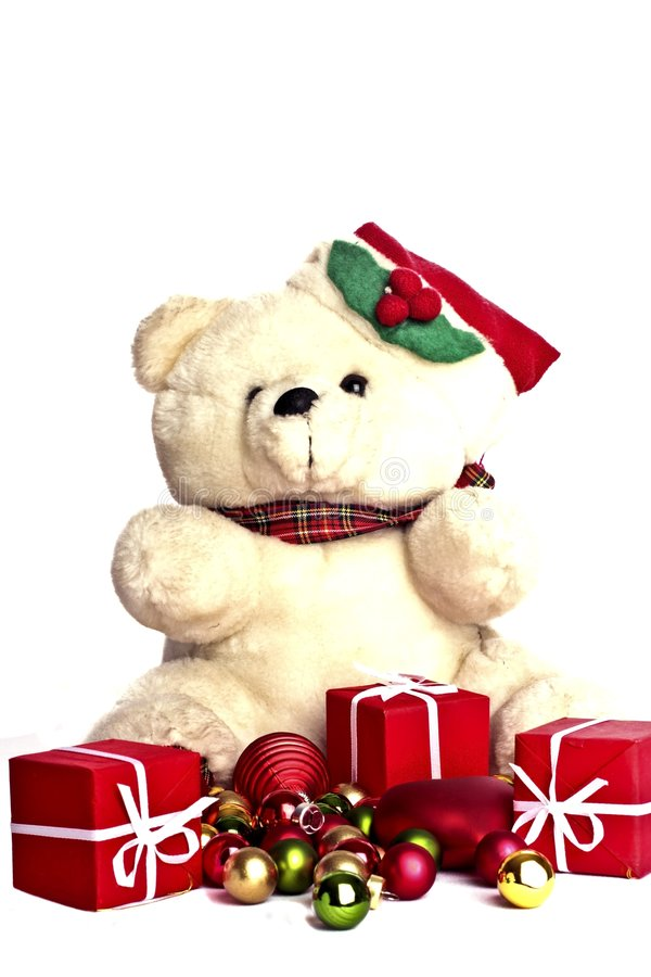 Download Christmas teddybear stock image. Image of present, cuddly - 7179707