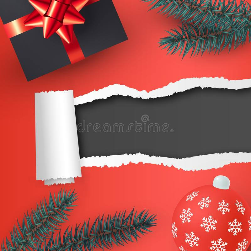 Christmas template for banners in realistic style, vector vector illustration