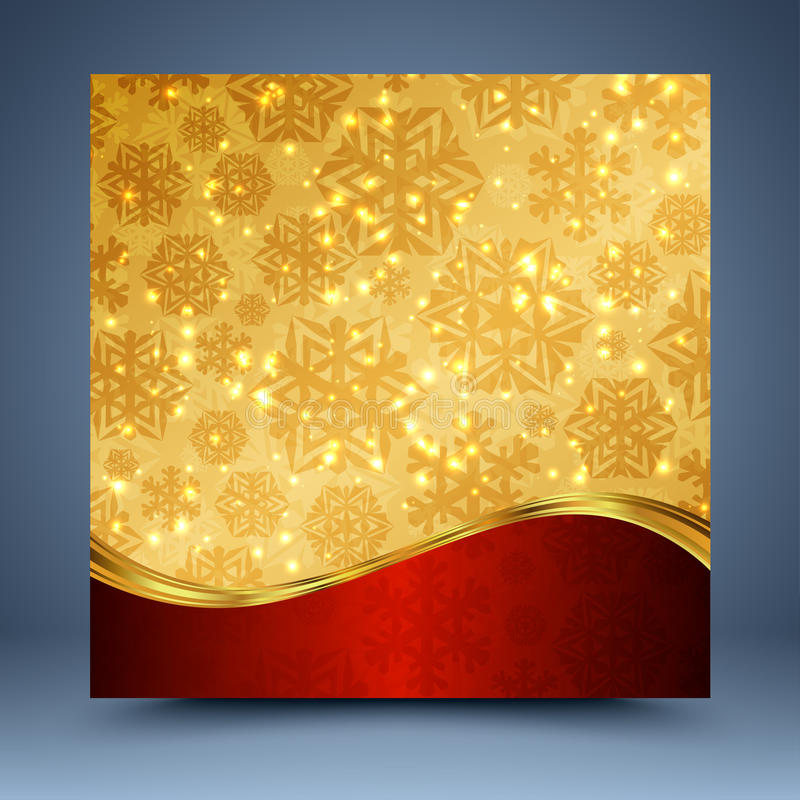 Red and gold christmas abstract background stock illustration