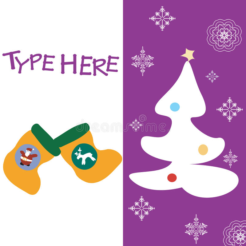Download Christmas text card stock vector. Image of paper, backdrop - 11535207