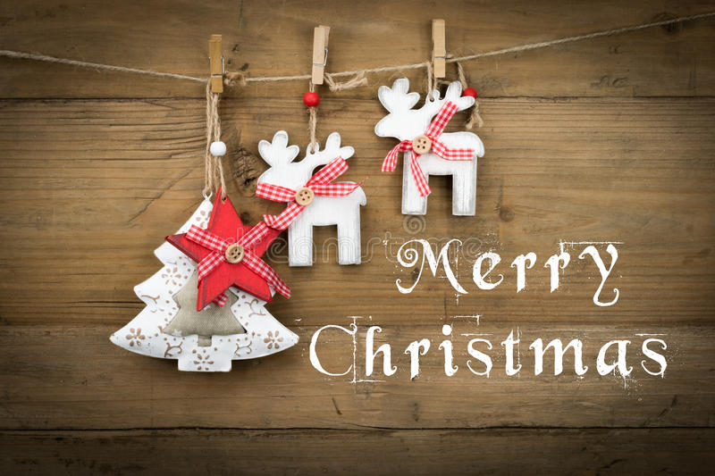 Merry Christmas text card royalty free stock photography