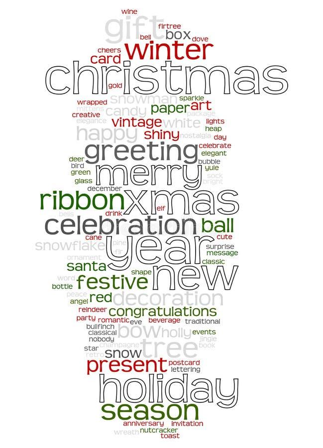 Christmas text cloud. An image of nice Christmas text cloud stock illustration