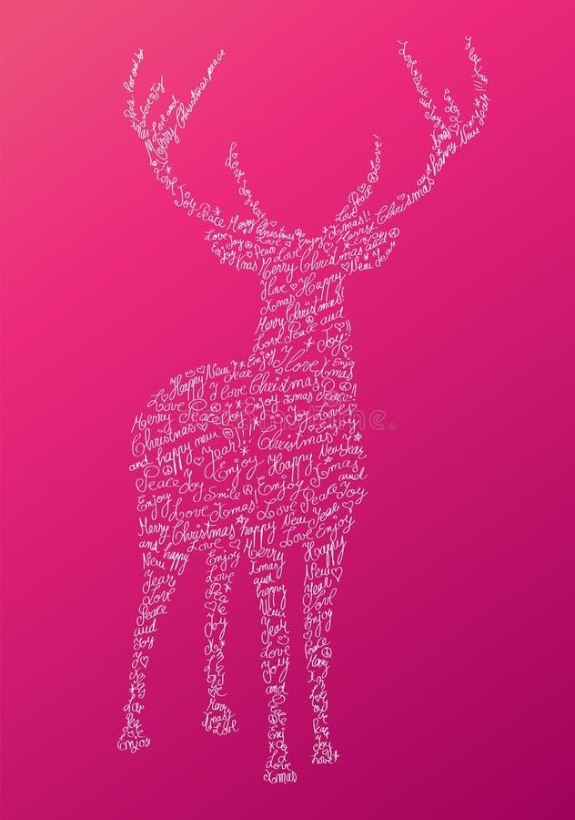 Christmas text shape reindeer composition EPS10 fi stock image