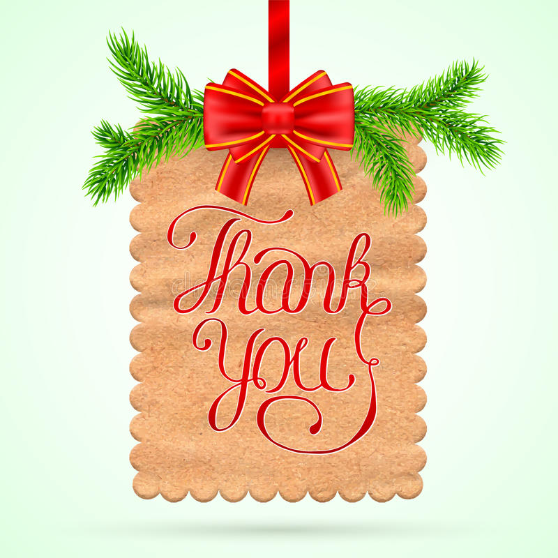 Christmas Thank you card stock vector. Illustration of ...