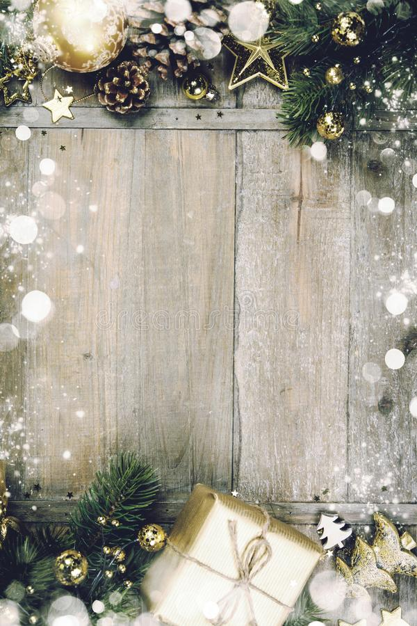 Download Christmas Theme Background In Vintage Style Stock Photo