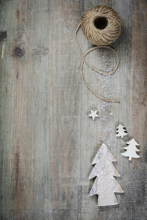 Download Christmas Theme Background In Vintage Style Stock Image