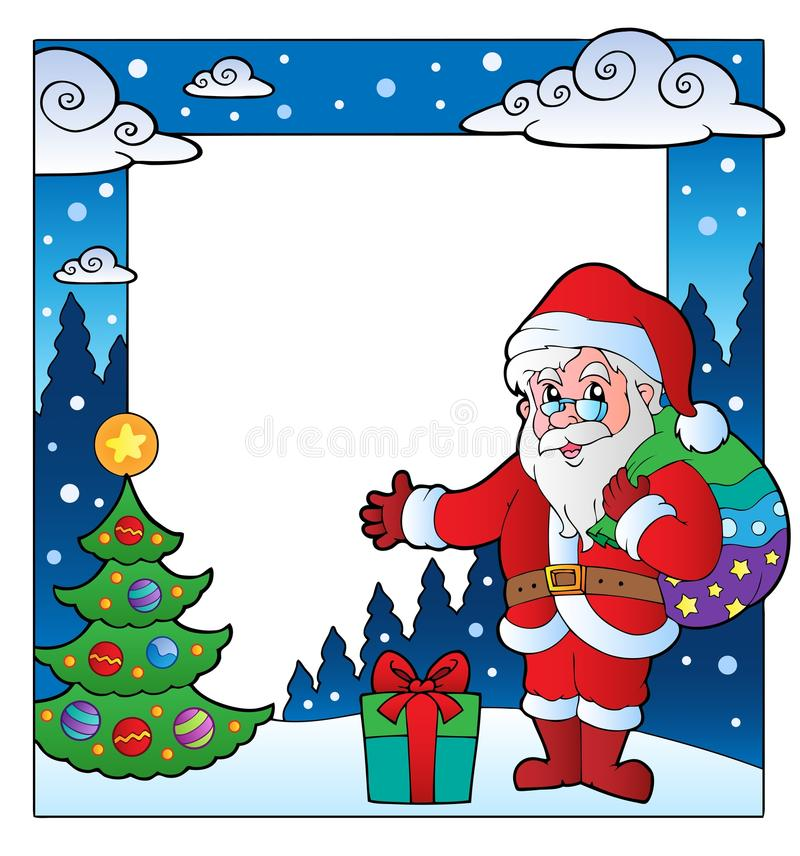 Free Christmas Theme Frame 2 Stock Image - 22128361
