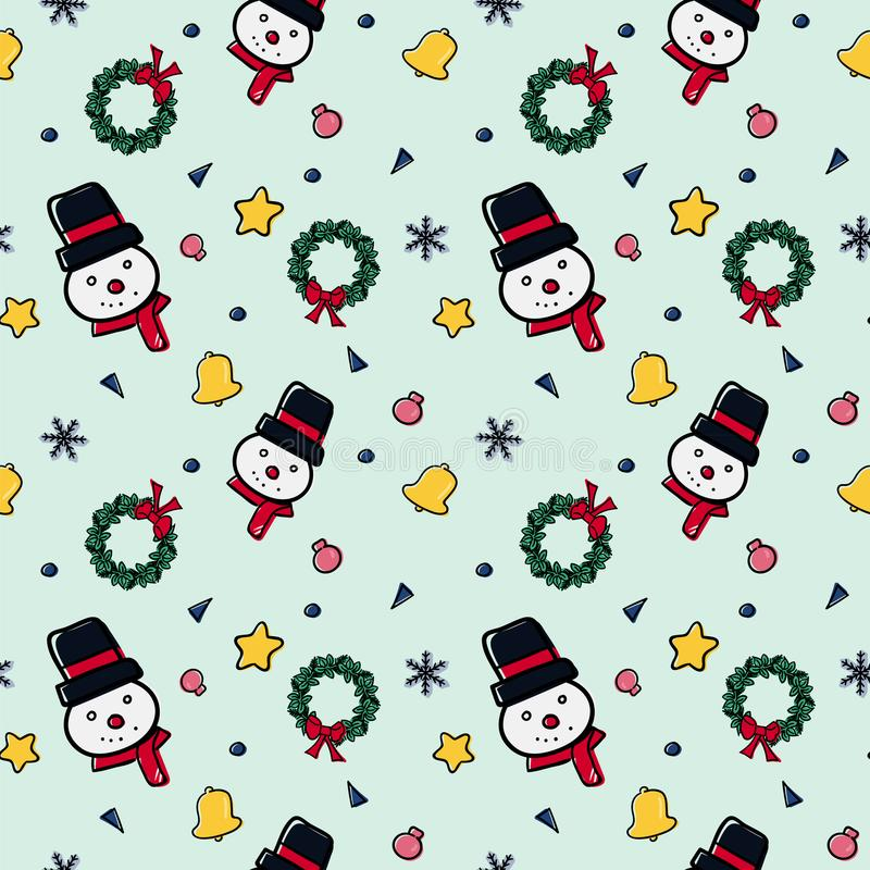 Christmas theme random repeat pattern vector illustration royalty free stock images