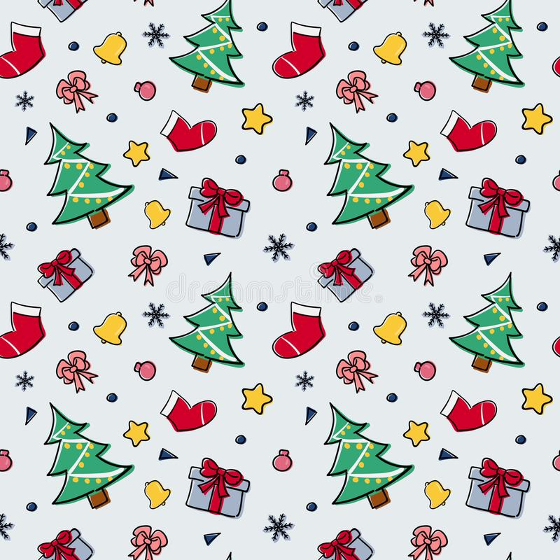 Christmas theme random repeat pattern vector illustration stock photos