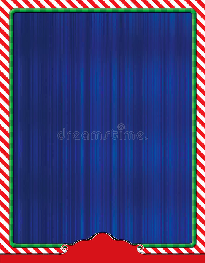 Christmas Themed Flyer Background. Blank Flyer Design Template for ad or promo royalty free stock photo