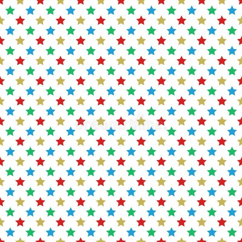 Christmas themed stars seamless pattern. Design stock illustration