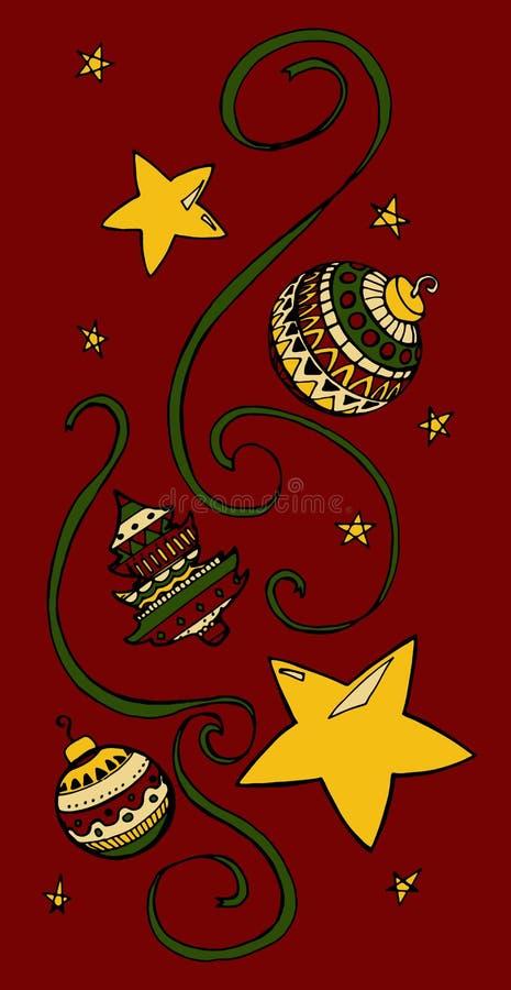 Christmas things royalty free illustration