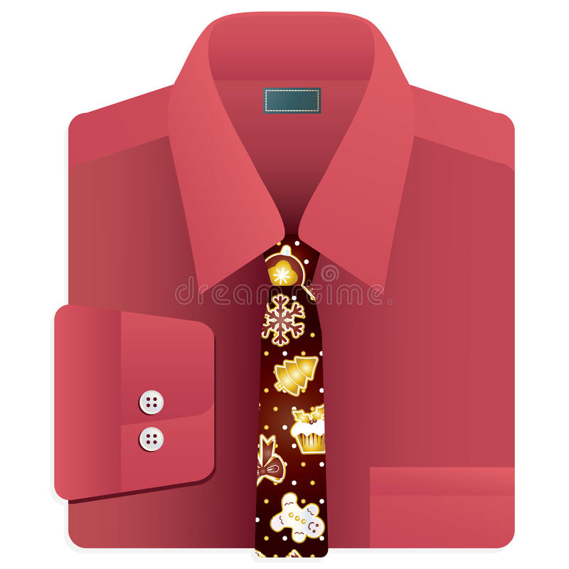 Download Christmas tie stock vector. Image of fashion, festive - 21361380