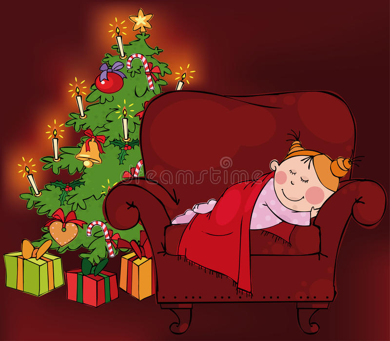 Download Christmas time stock vector. Image of chair, candy, girl - 11570778