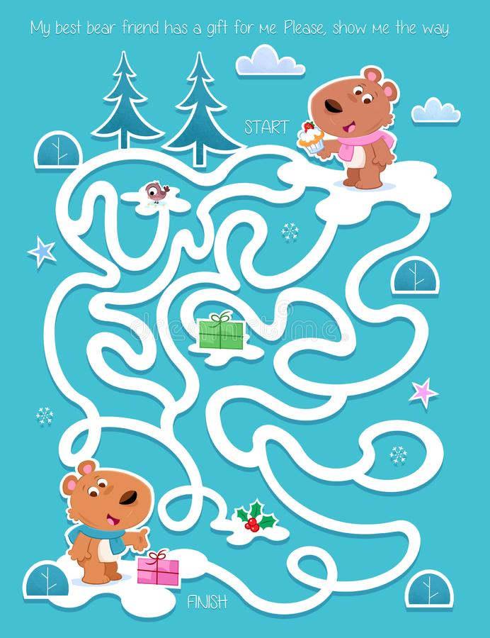 Free Christmas Time - Best Bear Friends - Show Me The Way Stock Image - 163379171