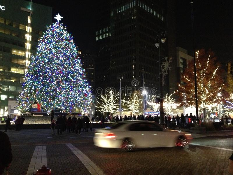 Christmas time in the city royalty free stock photos
