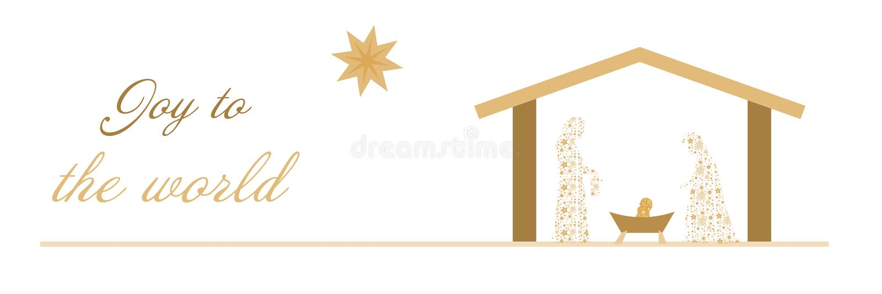 Christmas time - Nativity scene stock illustration