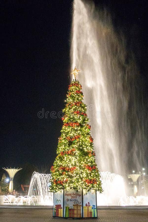Christmas time season in rock hill south carolina stock photos