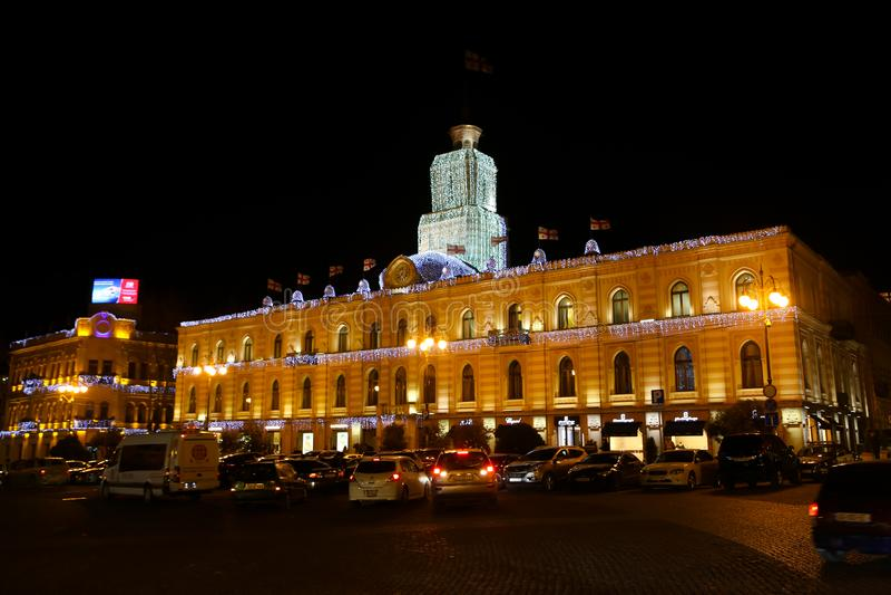 Freedom Square - Tbilisi. Christmas times Freedom Square Tbilisi, Georgia royalty free stock image
