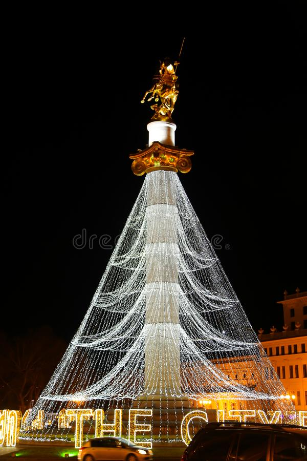 Freedom Square - Tbilisi. Christmas times Freedom Square Tbilisi, Georgia stock photography