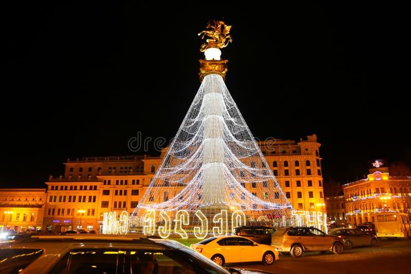 Christmas times - Tbilisi Georgia royalty free stock image