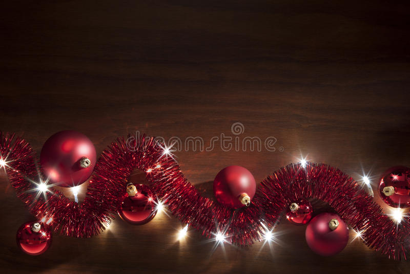 Christmas Tinsel Lights Background