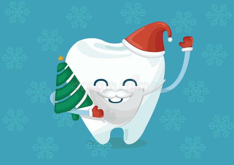 Christmas tooth royalty free illustration