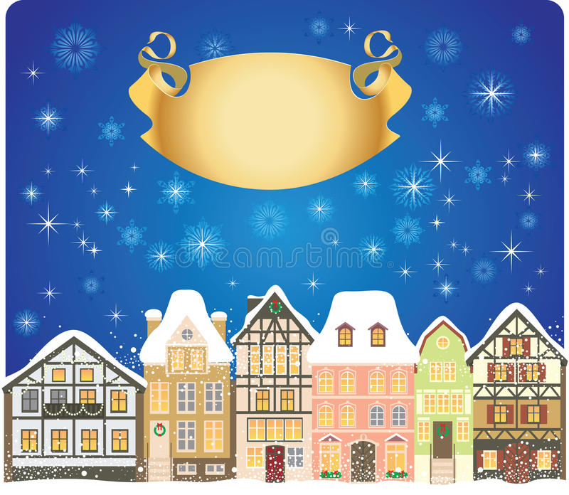 Christmas town royalty free illustration