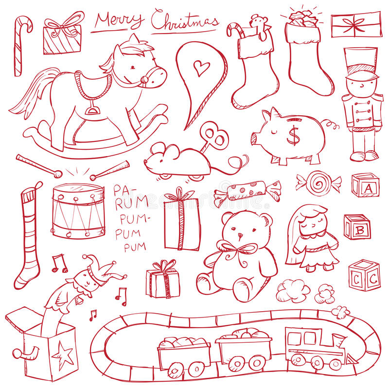 Free Christmas Toy Doodles Royalty Free Stock Photography - 34789747