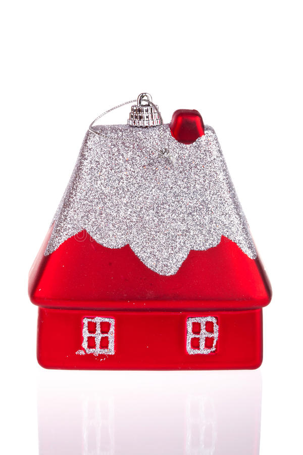Christmas toy-house royalty free stock photography