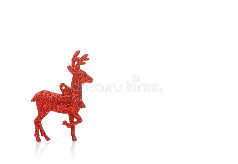 Christmas toy red deer. On a white background. Isolation stock photo