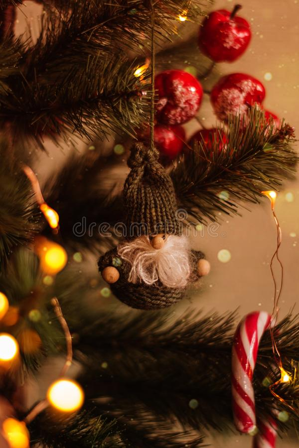 Christmas toy of Santa Klaus royalty free stock image