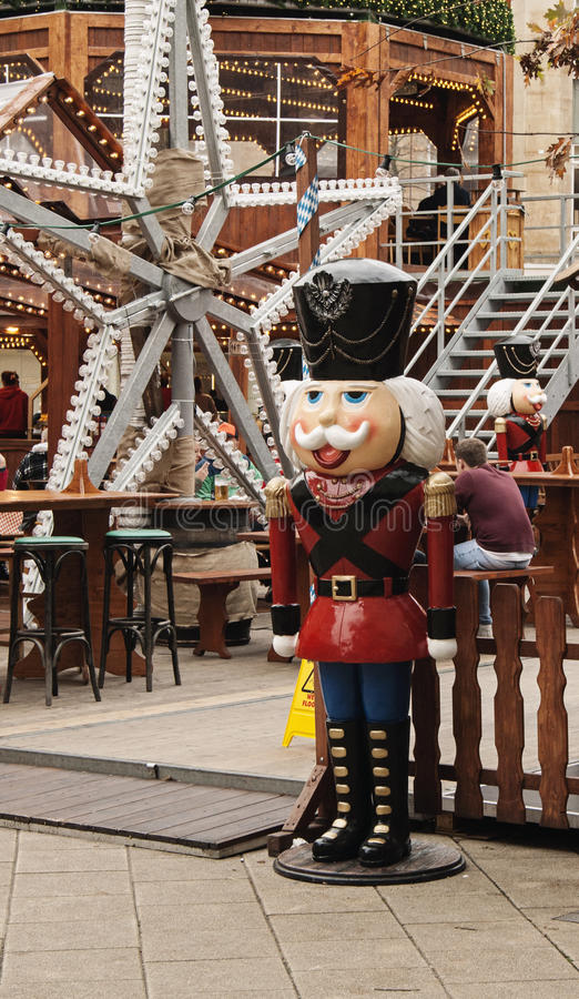 Christmas toy soldiers in Bristol. Bristol, UK - November 9, 2015: A soldier toy in the 7th German Christmas Market in Broadmead, Bristol. They are 38 stock images