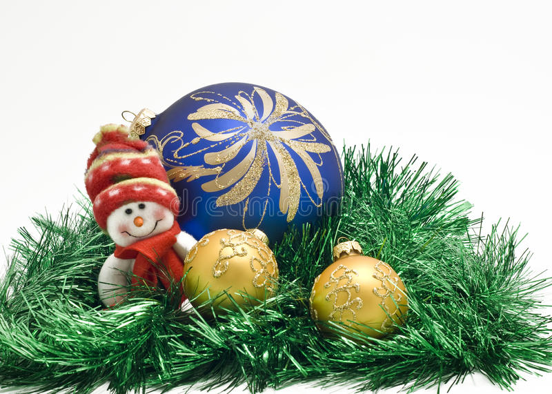 Download Christmas Toy With Three Colorful New Year Balls Stock Image - Image: 11109655