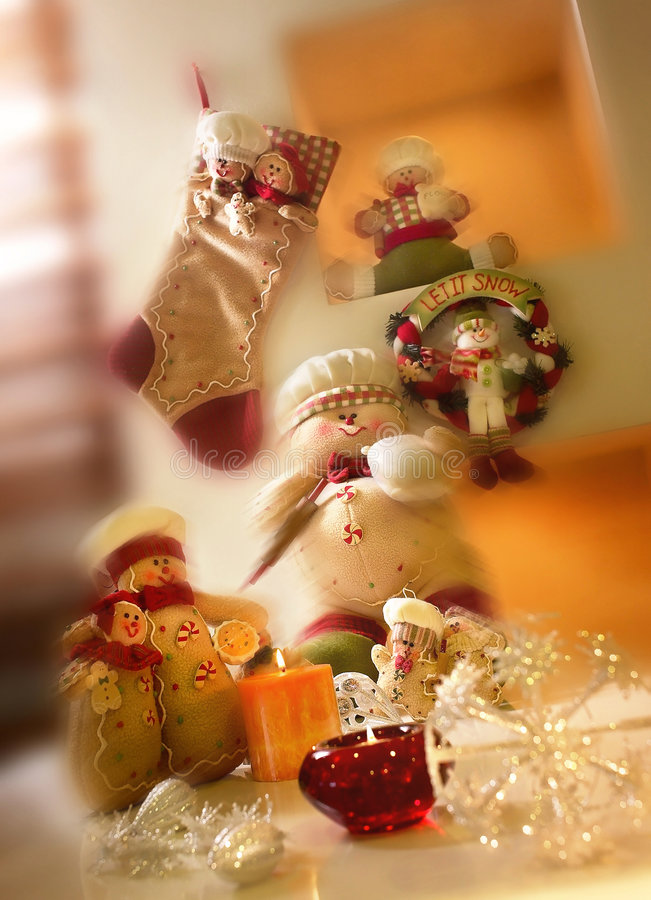 Christmas toys. Setting with ornaments stock images