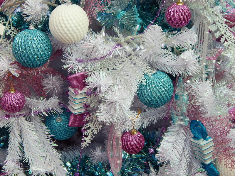 Christmas toys background. Close-up.International Specialized Trade Fairs GIFTS EXPO. AUTUMN 2014. CHRISTMAS & FESTIVE DECORATIONS stock photography