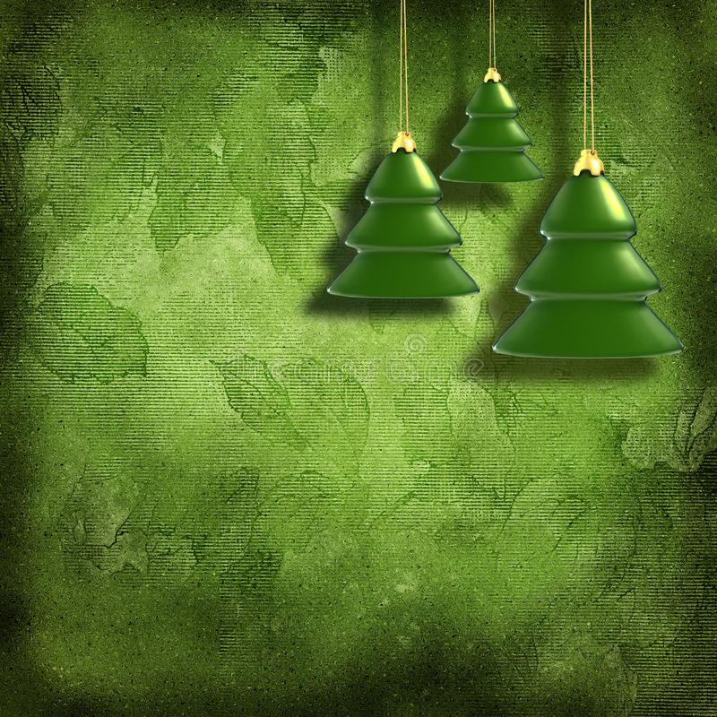 Christmas toys on decorative grunge background stock illustration