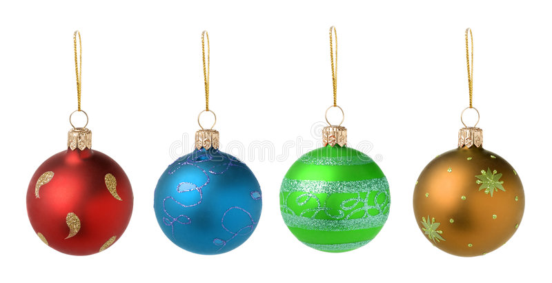 Christmas toys four color royalty free stock photography