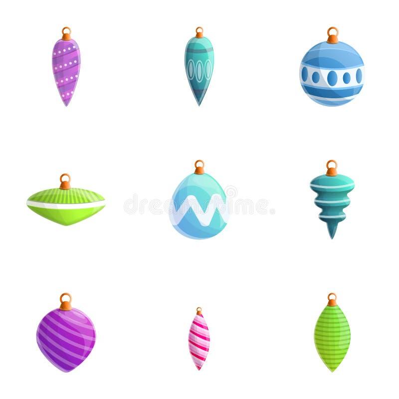 Christmas toys icon set, cartoon style. Christmas toys icon set. Cartoon set of 9 christmas toys vector icons for web design isolated on white background vector illustration