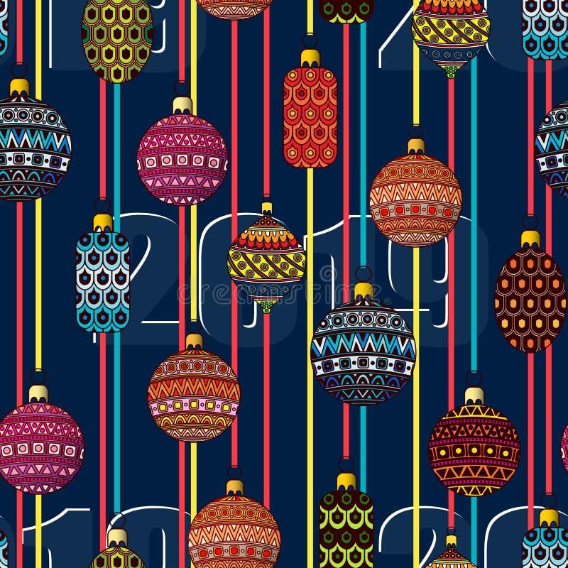 Christmas toys. Festive seamless pattern. Vector illustration. vector illustration