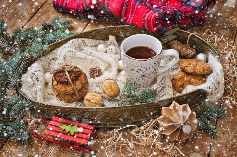 Christmas treats and decor royalty free stock images