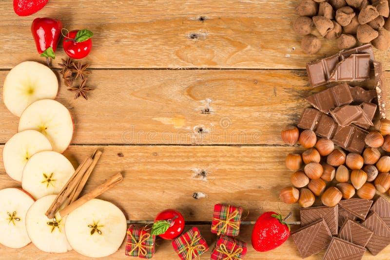 Christmas treats and nuts stock photo