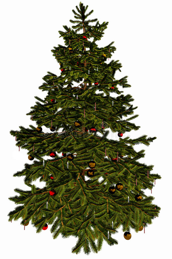 Download Christmas Tree stock illustration. Illustration of ornaments - 10317291
