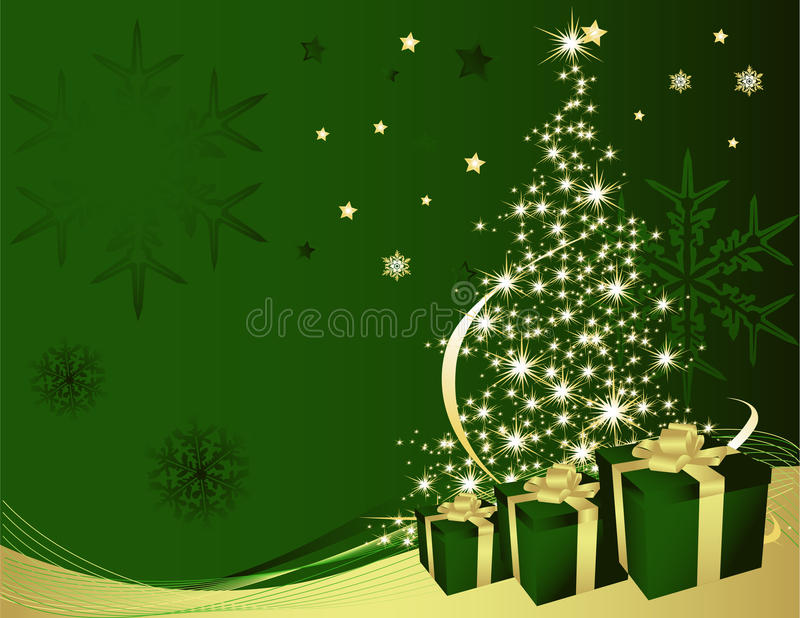 Download Christmas tree stock vector. Illustration of winter, gift - 10436547