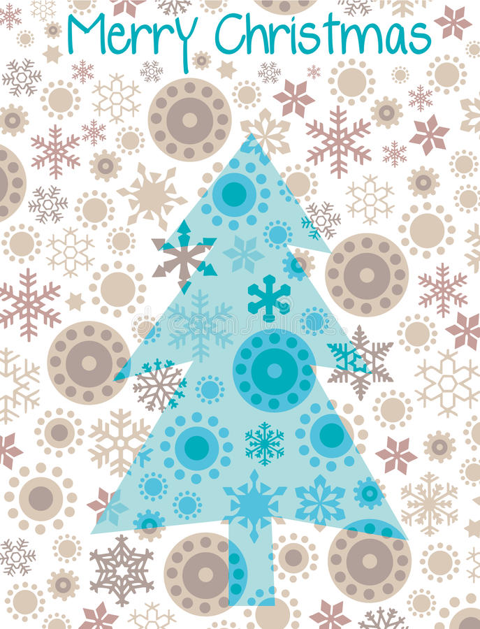 Christmas tree. Christmas card with abstract tree