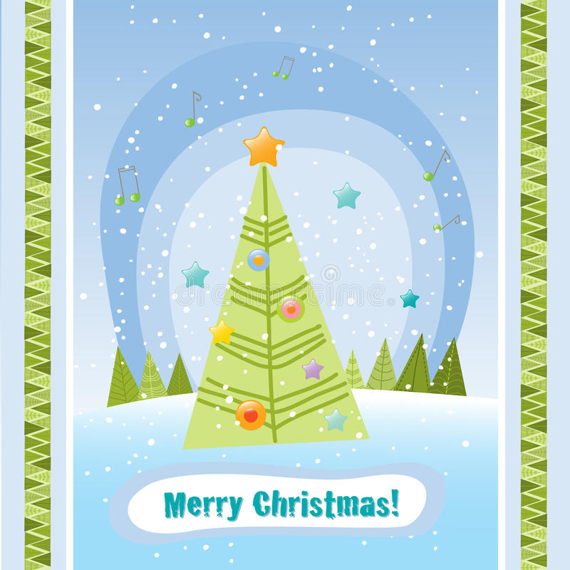 Download Christmas tree stock vector. Illustration of pattern - 11521711